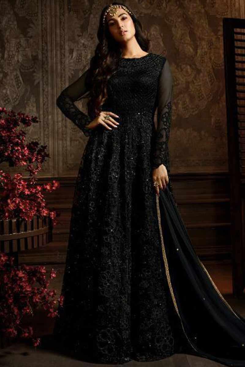Andaaz Black Anarkali Suit Collection Online USA, Canada, UAE, Australia