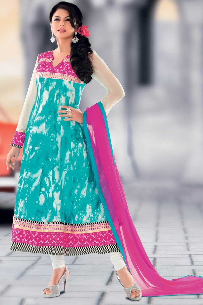 0c78ff31e4 ... Green Anarkali Churidar Suit With Dupatta Display Gallery Item 1 ...