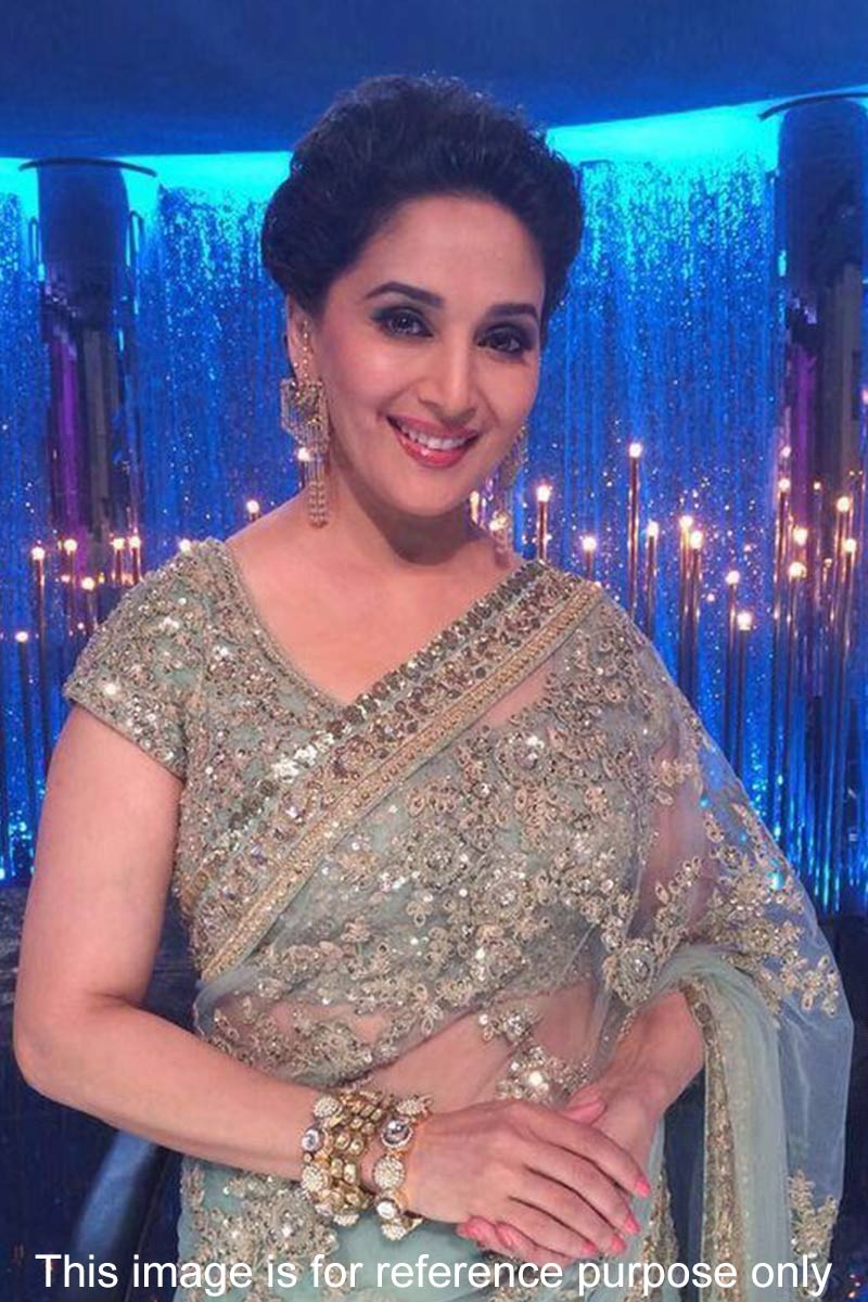 6e276fdf62 By Madhuri Dixit Bollywood dancing Queen saree Sale Online, Green ...