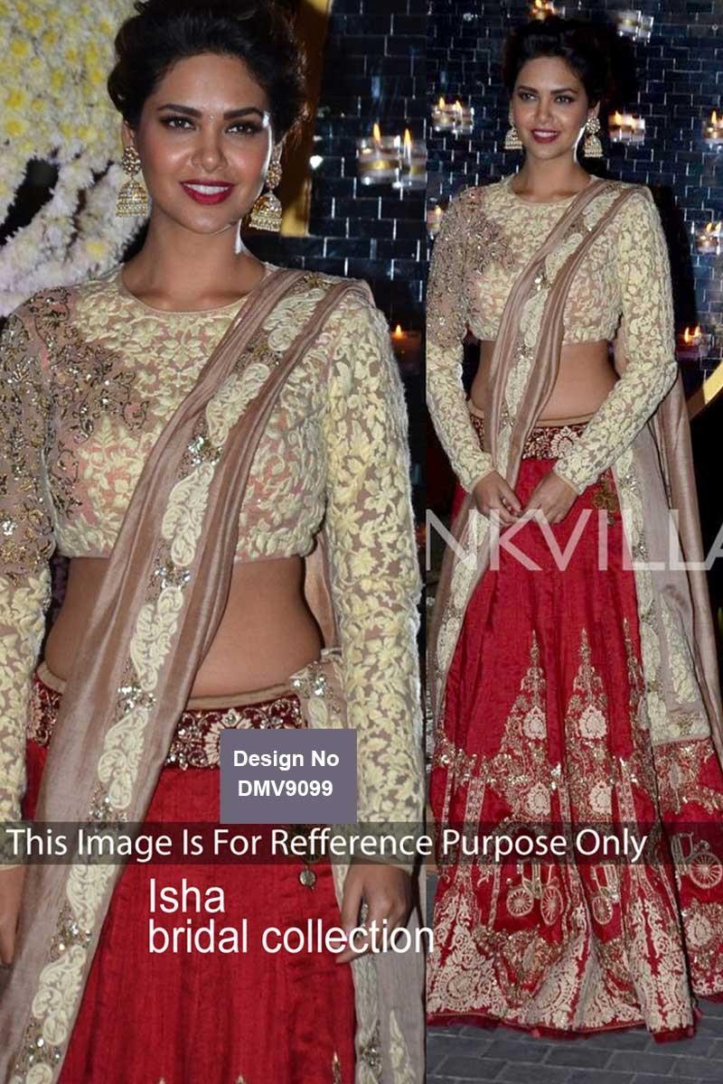 Bollywood Red With White Velvet Lehenga Raw Silk With Net Choli Online Dmv9099