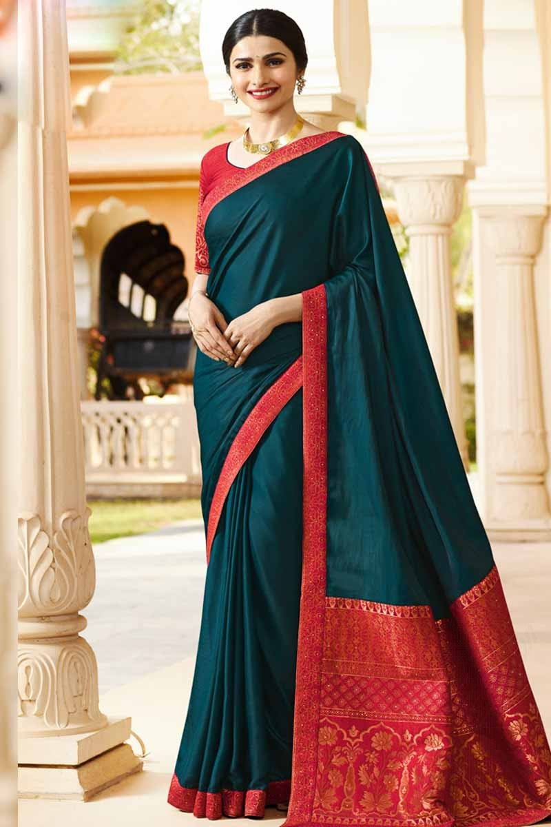 111720ddcaf55 Thumbnail Image of Rangoli Georgette Saree with Red Colour Blouse Display  Gallery Item 1 ...