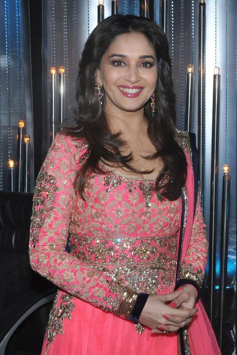 ba766bf935 Buy Bollywood Madhuri Dixit Pink Net Anarkali Churidar Suit Online ...