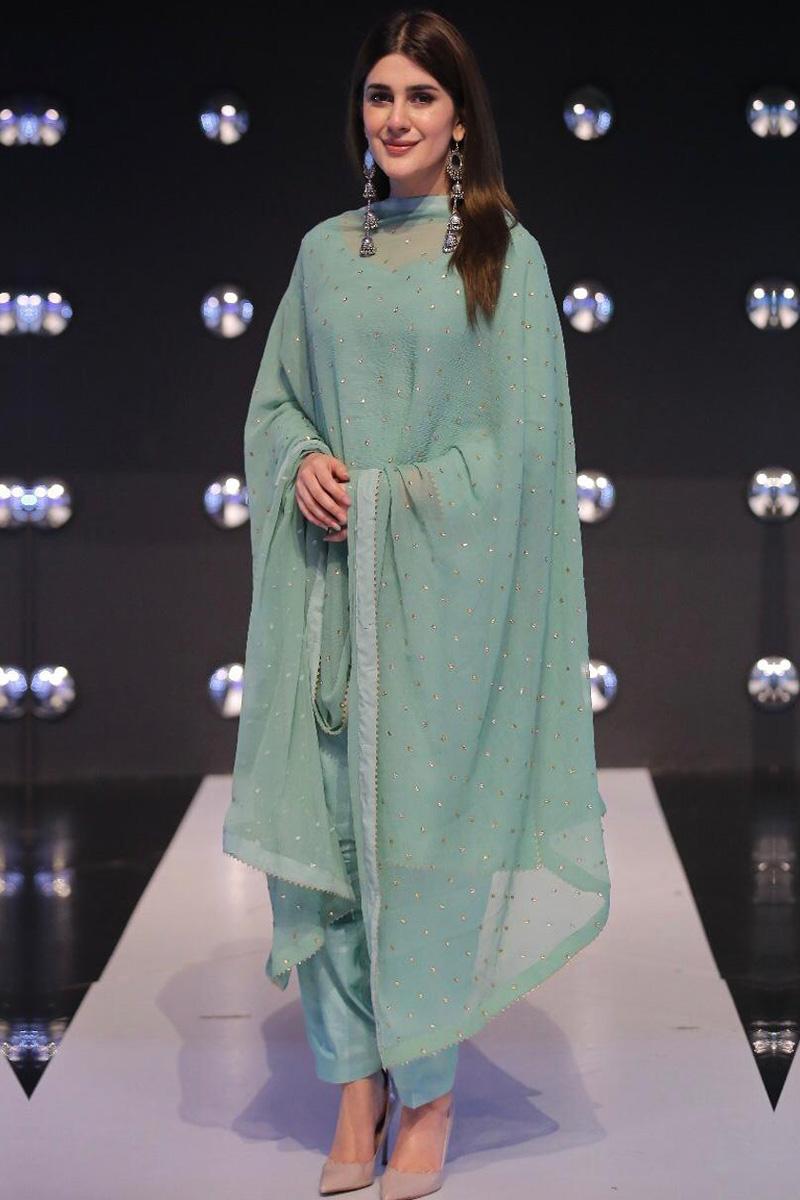 Patiala Dresses USA - Dusty Green Silk Patiala Suit With Gota Patti Work