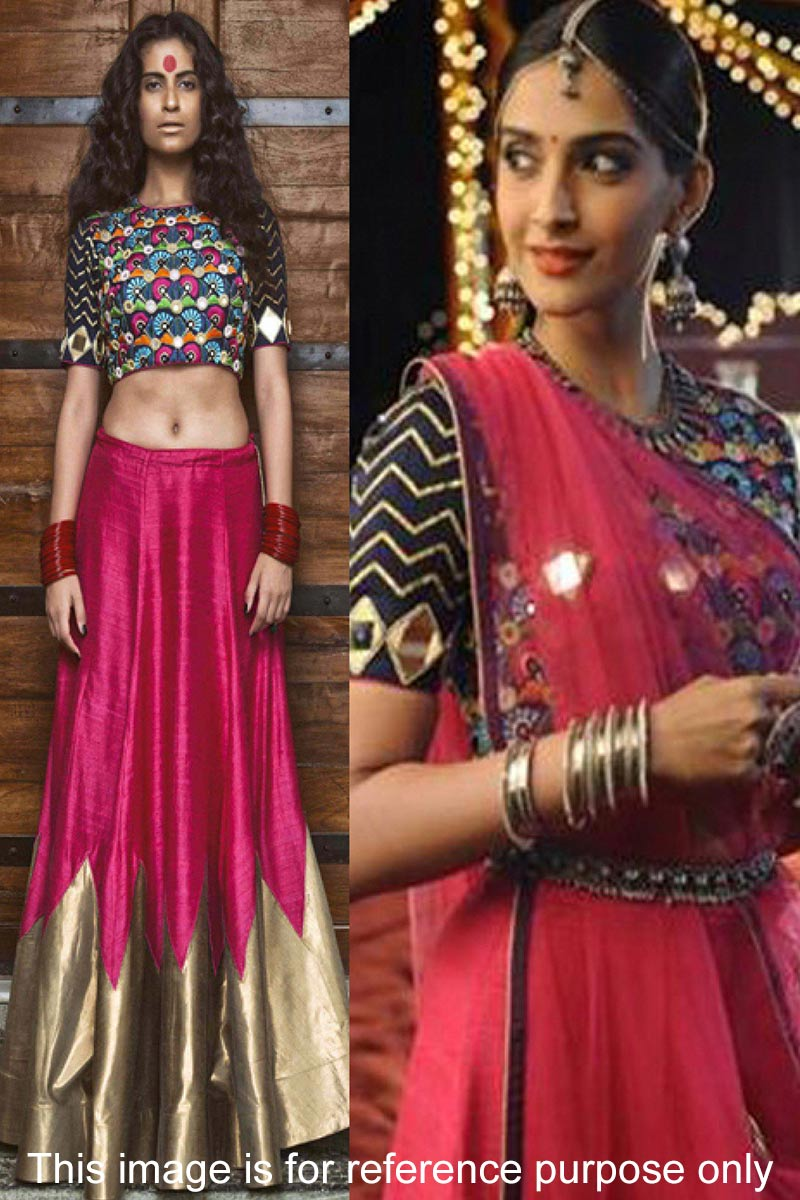 Rani Silk Lehenga With Silk Choli