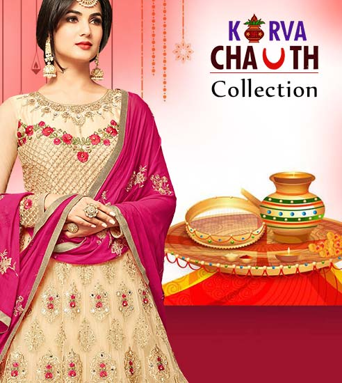 Latest Designer Karva Chauth Dresses Collection. Shop!
