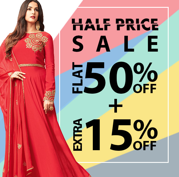 Diwali Deals & Discounts - Min. 50% Off + Extra 15% Off on Indian Dresses. Shop Now!
