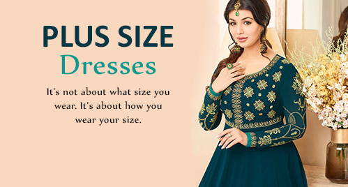 Plus Size Collection - Lehenga Choli, Saree, Salwar Kameez. Shop!