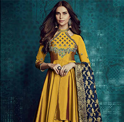 Traditional Punjabi Wedding Gowns Dresses For Modern Indian Bride,Fitted Wedding Dress With Lace Overlay