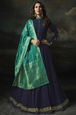 402c7fac190 Blue Georgette Embroidered Anarkali Suit  158  214View Details