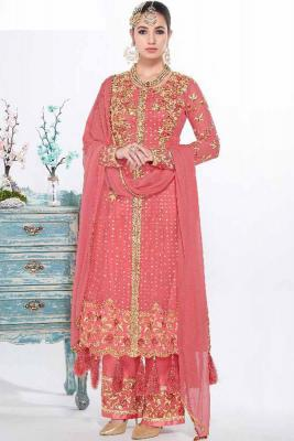 ed7afc29a72 Pink Silk Embroidered Palazzo Pant SuitRM 585RM 878View Details