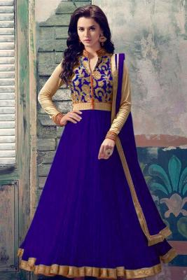 c2cfabefef8 Royal Blue Soft Net Anarkali churidar suit  113  164View Details