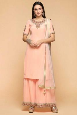91f148d5e28 Salmon Pink Color Sharara SuitRM 745RM 995View Details · Off White Dupion  Embroidered Straight Pant ...