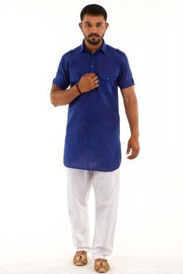 73f86284a4b0 Black mens Cotton Kurta - kurta pajama - men