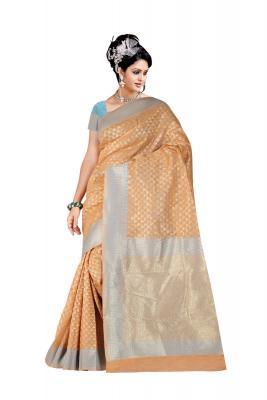 a51daf3388dfec Decent Jungle Green And Banarasi Silk Saree With Banarasi Silk U ...