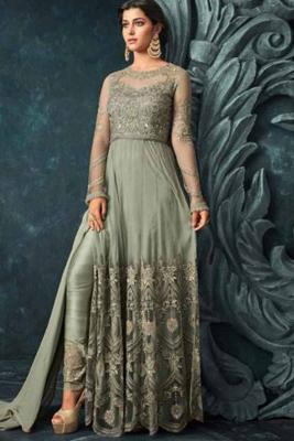 2418b37ea29 Olive Green Straight Pant Suit With Resham Embroidered   175  237View  Details