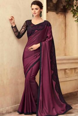 6bdc76e06ec1c Purple Silk Saree With Silk Blouse £ 95 £ 128View Details